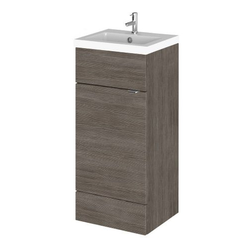 Elite Grey Avola 400mm Full Depth Vanity Unit & Basin